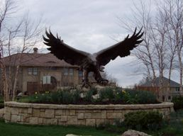 GlenEagles Sculpture photo by Ken Jansen Realtor